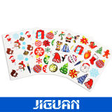 Custom Christmas Promotional Color Decorative Glitter Sticker