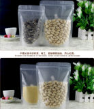Semitransparent Packing Valve Zipper Pouch/Reclosable Mylar Auto Zip Lock Bag for Candy Coffee