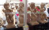 Life Size Garden Stone Cherub Statue Marble Little Angel Children Sculpture (SY-X072)
