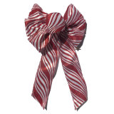 Metallic Glitter Wired Ribbon Bows for Holiday and Party Decoration