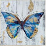 Butterflies Wood Panel Oil Picture with HP for Wall Art GF-P19052261