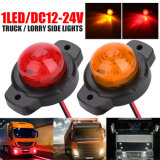 DC 24V Truck Side Marker Lights Car External Lights Squarde Warning Tail Light Auto Trailer Truck Lorry Lamps Amber Color