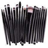 20PCS Professional Eyes Makeup Brushes Set Wood Handle Eyeshadow Eyeliner
