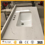 Artificial Calacatta White Quartz Stone Countertops for Kitchen/ Bathroom Project