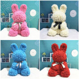 Hot Sale Christmas Valentine Gift Artificial Flower PE Foam Rose Rabbit
