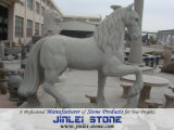 Garden Animal Carving Natural Caved Stone Horse Sculpture