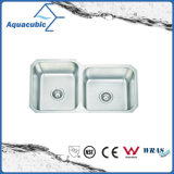 Double Bowl Brushed Stainless Steel Sink for Kitchen (ACS8445M)