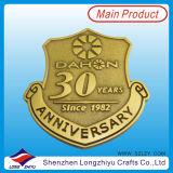 30th Anniversary Promotion Enamel Badge Metal Gold Army Pin Badge Medal We Make Custom Embossed Metallogo Badges Pin Medal Factory (LZY201300280)