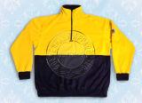 Men's Nylon Yellow Sweat Shirt Half Zipper Safety Wear