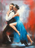 Reproduction of Fabian Perez Dancing Lovers Handmade Painting