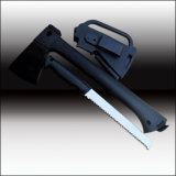 Multi Function Axe Cuting Tool Hadle Tool Nylon Glass Fibre Handle with Saw and Firing Tools