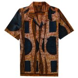 Wholesale Casual Custom Printed Hawaiian Short Sleeve Shirt for Men