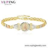 75514 Xuping Gold Men Designs God Jesus Logo Bracelet Fashion Jewelry