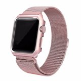 Maget Loop and Aluminum Case Milanese Strap for Apple Watch Strap 38mm 42mm