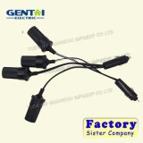 Car Cigarette Lighter Extension Cable Power Socket Adapter
