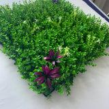4 Layers Cheap Decorative Green Artificial Boxwood Wall Grass