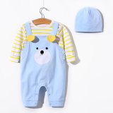 Cute Baby Bear Pattern Baby Clothes with Beanie 3pieces Children Clothes