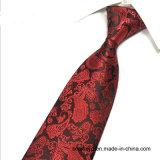 100% Silk Cheap Tie Green Jacquard Paisley Necktie for Men