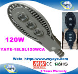 Yaye 18 Best Sell Ce/RoHS/20400lm COB 120W LED Street Lights with Osram Chips/Meanwell Driver/ 5 Years Warranty/IP66