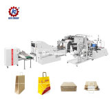 Khaki Square Bottom Shopping High Speed Kraft Paper Bag Making Machine Price Fully Automatic Printing for Price of Mini Carry Handle Bag Manufacturing Machine