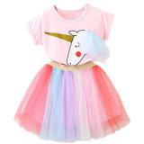 Wholesale 2018 Kids Clothing Girls Dress Set T-Shirt+Dress