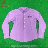 Healong Top Sale Sportswear Full Dye Plain Long Sleeve Polo Shirt