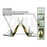 """4"""" Closed S. Steel Handle Multi-Pliers with Satin Pliers/Tool: 4ln1-40bl"""