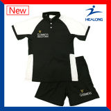 Healong Heat Transfer Logo Customized Cut and Sew Polo Set