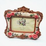 Vintage Design 3D Flower Resin Photo Picture Frame