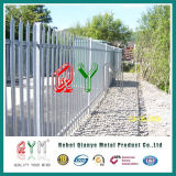 Security Steel Palisade Fence / Decorative Iron Bar Palisade Panel