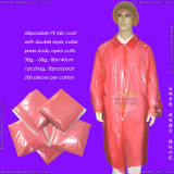 Disposable Plastic Lab Coat, Disposable Plastic Laboratory Coat