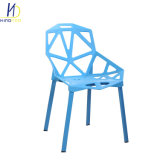 Minimalist Geometric Cafe Chairs Outdoor Furniture Plastic Chair