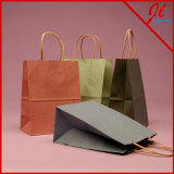 Premium Shadow Stripe Colored Kraft Shopping Bags