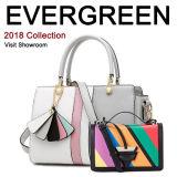 Contrast Color Leather Lady Tote Bag Fashion Designer Handbag Wholesale Emg5346