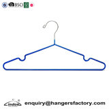 Audited Supplier Blue PVC Coated Metal Laundry Wire Clothes Hanger