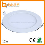 Factory Ceiling Lighting SMD2835 Super Thin Slim Aluminum 12W Round LED Panel Lamp