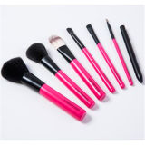 Wisdom 7PCS Pink Wooden Handle Cosmetics Makeup Brush Set