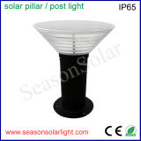 Factory Supply Outdoor Garden 5W Solar Pillar Light with Bright LED Chips and Build-in Battery