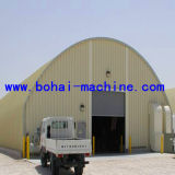 Bohai Large Span No-Girder Arch Roof Project Forming Machine