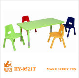Modern Rectangular Adjustable Table and Chair for Kindergarten School Children