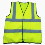 Manufacturer High Visibility Safety Vest with 2 Horizontal Tapes