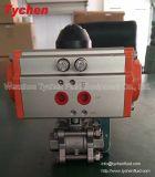 3PC Pneumatic Ball Valve CF8 Material