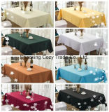 New Design Rectangle Polyester Jacquard Tablecloth for Long Table