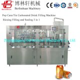 Automatic Aluminum Pet Can Beverage Liquid CSD Carbonated Soft Energy Drink Beer Rinsing Filling Sealing Production Line