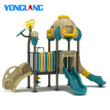 Cartoon Car Instyle Patent Kids Park Outdoor Playground Slide Climb with TUV (YL26245)