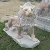 Marble Garden Lion Stone Sculpture
