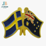 Free Sample Zinc Alloy Casting Enamel Badge Custom UK Flag Lapel Pin