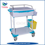 Plastic Medical Hospital Nursing Cart with One Drawer