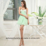Beaded Cotton A-Line Prom Gowns Chiffon Sweetheart Neck Prom Dress