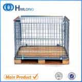 Stackable Pallet Mesh Cage with Wood Pallet